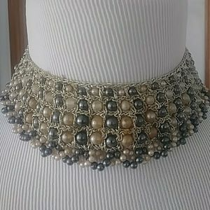 Jewelry - Vintage Hand Crochet Pearl Necklace